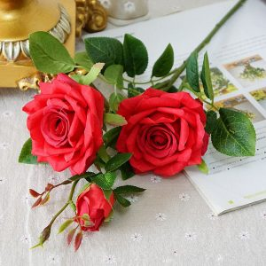 Artificial Paris perfume roses fake Flowers silk flowers Wedding decoration baby shower gifts
