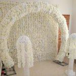 Flower arch wall
