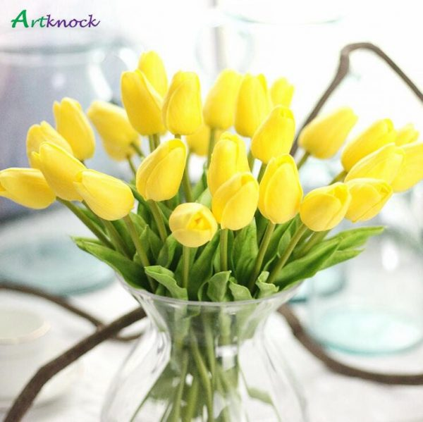 30pcs-lot-Artificial-mini-Tulips-Flower-bouquet-decorative-Real-touch-PU-fake-flowers-flores-For-Home-1