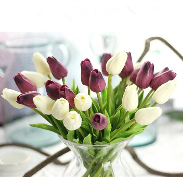 30pcs-lot-Artificial-mini-Tulips-Flower-bouquet-decorative-Real-touch-PU-fake-flowers-flores-For-Home