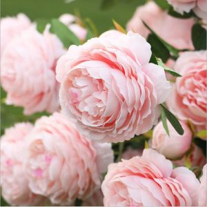triple Heads European Artificial Peony branch flour rose flores for home wedding  cheap fake Flowers college party birthday party
