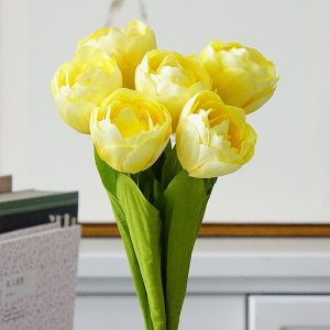 6Pcs bunch French tulips Artificial Flower new house hotel bar coffee shop decorations