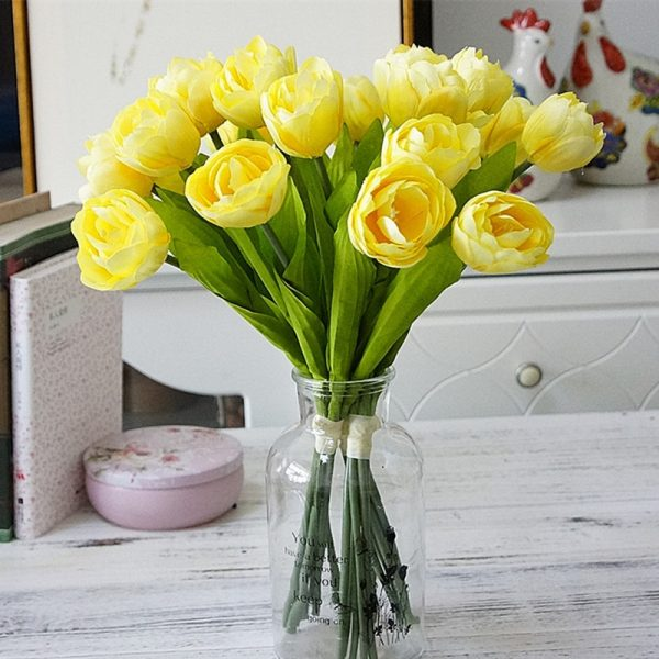 6Pcs-bunch-French-tulips-Artificial-Flower-for-home-wedding-decoration-silk-white-tulip-hand-flowers-flores