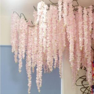 88cm-Cherry-blossom-Vine-Sakura-Artificial-flowers-for-party-Wedding-ceiling-decoration-wall-Hanging-rattan-fleur