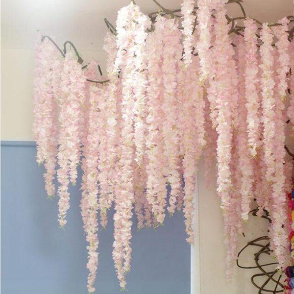 88cm-Cherry-blossom-Vine-Sakura-Artificial-flowers-for-party-Wedding-ceiling-decoration-wall-Hanging-rattan-fleur
