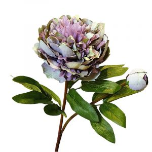 Beautiful large Luxury Versailles Palace Peony Artificial Flowers branch with leaves Silk peonies reunion party concert theater event supply