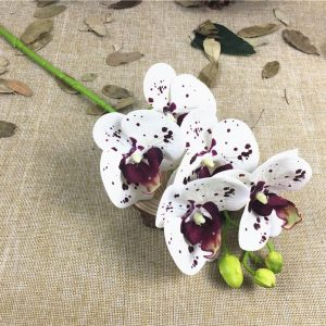 5 Heads Orchids branch Artificial Flowers for party Decoration white orchid event favors