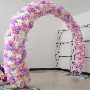Rose Hydrangea Flower gate Rows Wedding Decoration Arch Centerpieces Props 18 colors Available New Arrival Simulation pirate party xmas Christmas  party staff office party