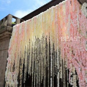 New Arrival artificial Hydrangea wisteria flower vines wedding arch flowers rattan marrige party Garlands Decoration Floral prom gifts hens party bachelorette party