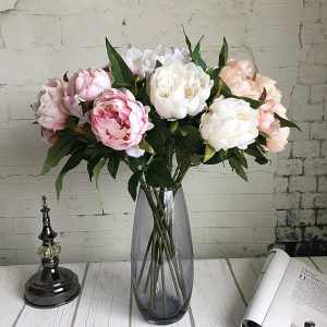 New-Year-Artificial-Silk-Plastic-Peony-Flower-branch-with-leaves-flores-peonies-for-indoor-Home-decor