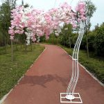 Romantic-Wedding-Decoration-Cherry-Flower-Tree-Road-Cited-Arch-Bride-and-Groom-Photographing-Props-Many-Colors