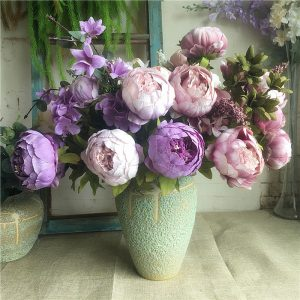 wholesale Simulation peony bunch Artificial flowers for white peonies fake flower bachelorette party bridal shower favours