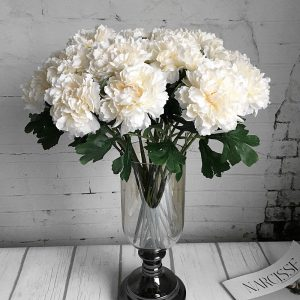 Single cheap branch Rose peony Artificial flowers silk white peonies fake flowers wholesale flores happy new year party