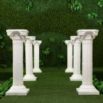 White-Plastic-Roman-Columns-Road-Cited-For-Wedding-Favors-Party-Decorations-Hotels-Shopping-Malls-Opened-Welcome
