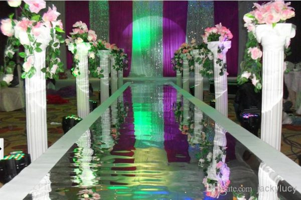 White-Plastic-Roman-Columns-Road-Cited-For-Wedding-Favors-Party-Decorations-Hotels-Shopping-Malls-Opened-Welcome-2