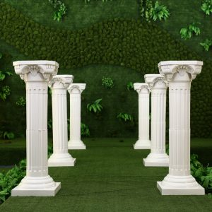 White Plastic Roman Columns Road Cited For Wedding Favors Party Decorations Hotels Shopping Malls Opened Welcome Road Lead