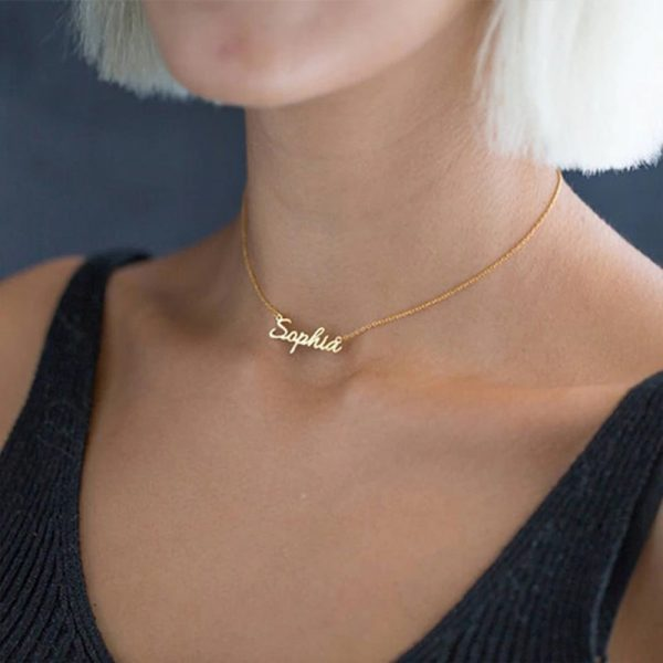 314L-Stainless-Steel-Old-English-Crown-Arabic-Cursive-Handwriting-Nameplate-Personalized-Custom-Name-Necklace-Birthday-Gifts