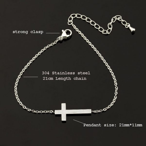 Crucifix-Jesus-Christian-Horizontal-Sideways-Cross-Bracelets-for-Women-Men-Stainless-Steel-Gold-Silver-Color-Bridesmaids-1