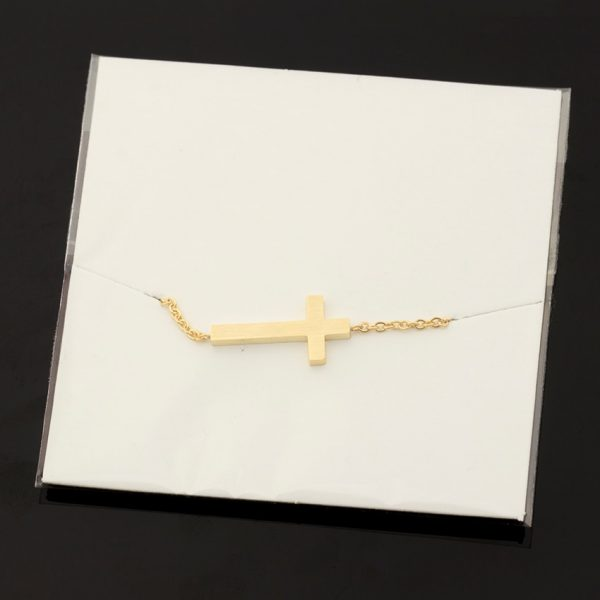 Crucifix-Jesus-Christian-Horizontal-Sideways-Cross-Bracelets-for-Women-Men-Stainless-Steel-Gold-Silver-Color-Bridesmaids-5
