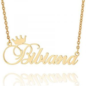 Custom-Nameplate-Personalized-Cursive-Crown-Name-Necklace-For-Girls-Kids-Silver-Rose-Gold-Stainless-Steel-Chain