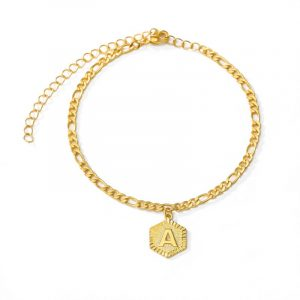 Stainless Steel Dainty  Initial Letter Anklet for Women Girl Fashion Alphabet Jewelry Christmas Gifts Foot Chain Leg Bracelet