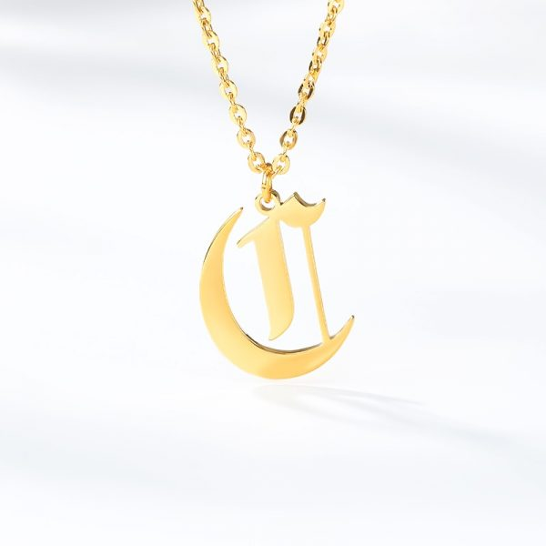 Gold-Color-26-Letters-Jewelry-Old-English-Alphabe-Necklaces-for-Women-Choker-A-B-C-D-2