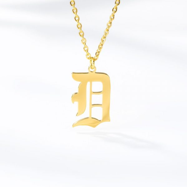 Gold-Color-26-Letters-Jewelry-Old-English-Alphabe-Necklaces-for-Women-Choker-A-B-C-D-3