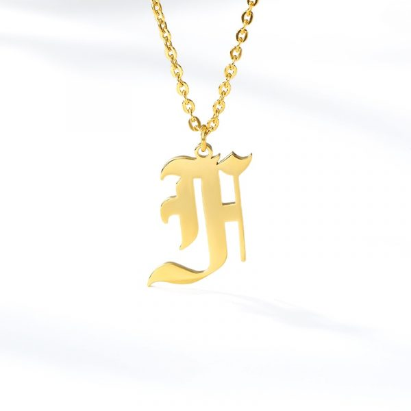 Gold-Color-26-Letters-Jewelry-Old-English-Alphabe-Necklaces-for-Women-Choker-A-B-C-D-5