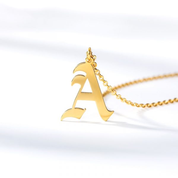 Gold-Color-26-Letters-Jewelry-Old-English-Alphabe-Necklaces-for-Women-Choker-A-B-C-D