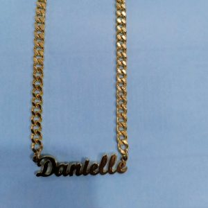 Hip Hop Jewelry Cuban Chain Customized Nameplate Necklaces Punk Gold Tone gifts under 15 pounds