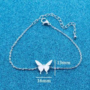 Lovely Butterfly Charm Bracelet for Kids Women Friendship Best Friend Gift Butterflies Bracelet & Bangle Stainless Steel