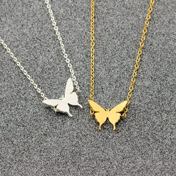 Lovely-Butterfly-Charm-Bracelet-for-Kids-Women-Friendship-Best-Friend-Gift-Butterflies-Bracelet-Bangle-Stainless-Steel-2