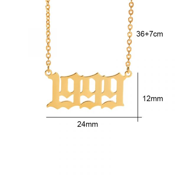 Old-English-1985-To-2020-Date-Of-Birth-Number-Necklaces-Stainless-Steel-Rose-Gold-Letter-Year-2
