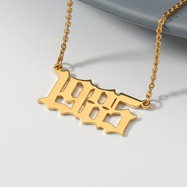 Old-English-1985-To-2020-Date-Of-Birth-Number-Necklaces-Stainless-Steel-Rose-Gold-Letter-Year-4