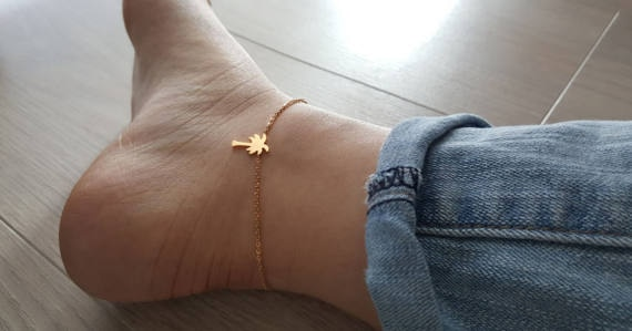 Palm-Tree-Anklets-For-Women-Foot-Jewelry-Summer-Beach-Barefoot-Sandals-Bracelet-Ankle-On-The-Leg