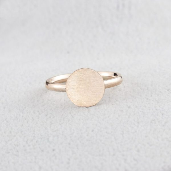 Rose-Gold-Color-Full-Moon-Rings-For-Women-Men-Stainless-Steel-Band-Simple-Brushed-Karma-Circle-3