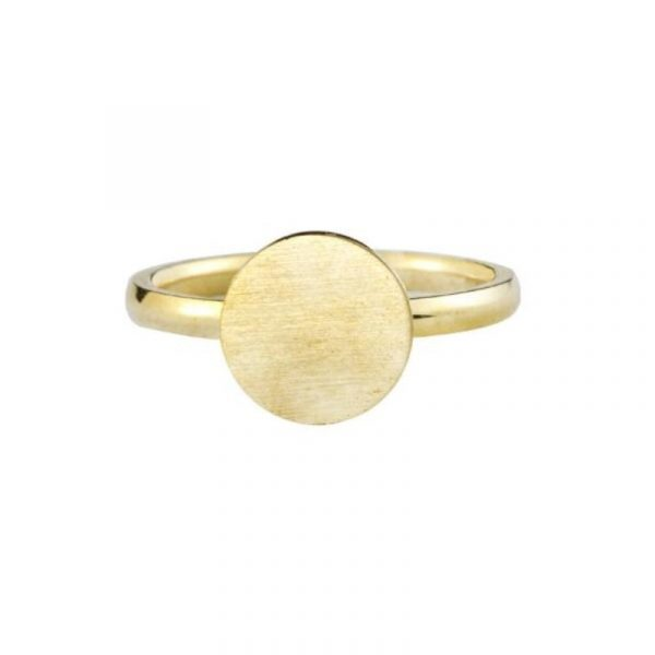 Rose-Gold-Color-Full-Moon-Rings-For-Women-Men-Stainless-Steel-Band-Simple-Brushed-Karma-Circle-4
