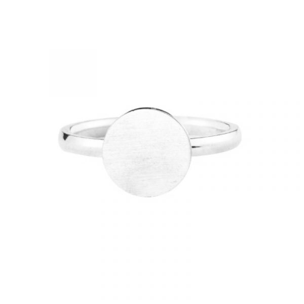 Rose-Gold-Color-Full-Moon-Rings-For-Women-Men-Stainless-Steel-Band-Simple-Brushed-Karma-Circle-5