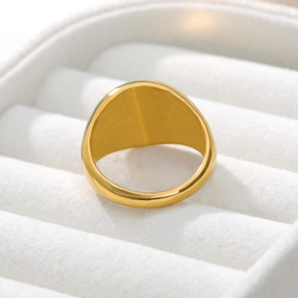 Simple-Square-Gold-Width-Signet-Polished-Round-Punk-Ring-Stainless-Steel-Biker-Nightclub-Jewelry-Gift-New-1