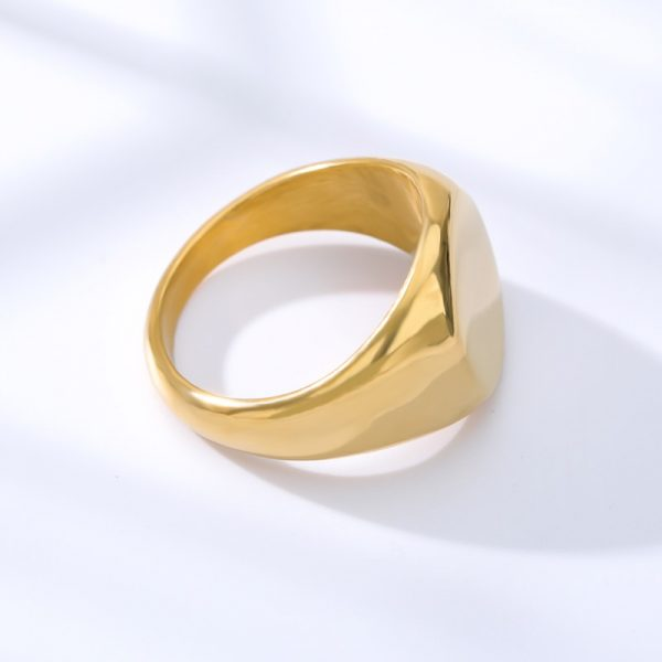 Simple-Square-Gold-Width-Signet-Polished-Round-Punk-Ring-Stainless-Steel-Biker-Nightclub-Jewelry-Gift-New-4