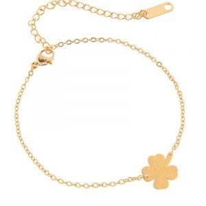 Stainless Steel Good Luck leaf Clover Bracelet For Women Shamrock St. Patrick's Day Best Friend Irish Bracelets