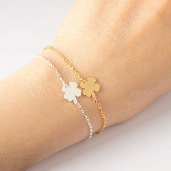 Stainless-Steel-Good-Luck-Four-leaf-Clover-Bracelet-For-Women-Shamrock-St-Patrick-s-Day-Best