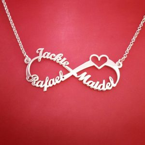 Stainless-Steel-Heart-Charms-Custom-Name-Necklace-Personalized-Rose-Gold-Silver-Infinity-Pendant-Friendship-Gift-Jewelry