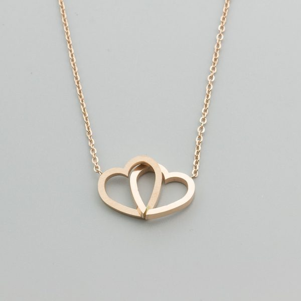 Stainless-Steel-Statement-Leaf-Heartbeat-Cross-Necklaces-Heart-to-Heart-Crane-Bar-Crucifix-Jesus-Rose-Gold-4