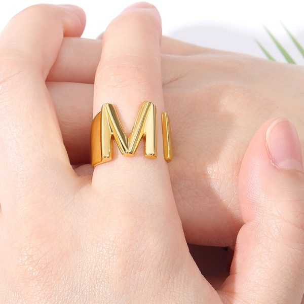 Thumb-Hollow-A-Z-Letter-Gold-Color-Metal-Adjustable-Opening-Ring-Initials-Name-Alphabet-Female-Party-2