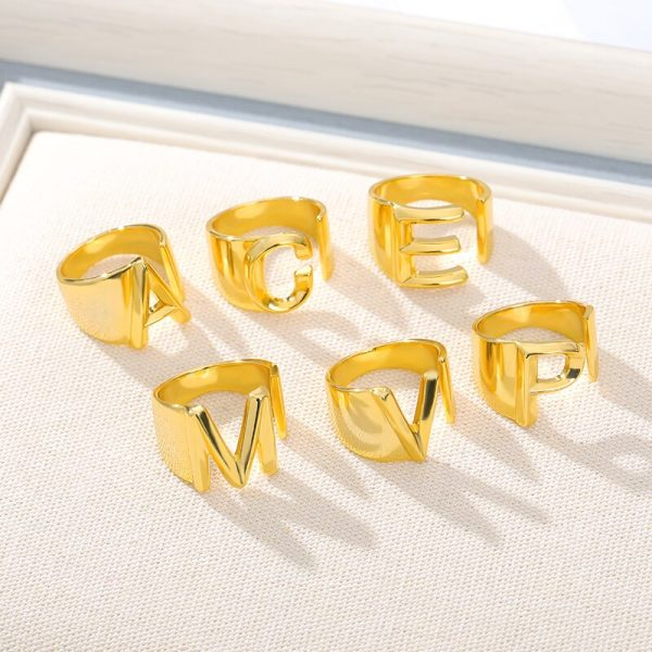 Thumb-Hollow-A-Z-Letter-Gold-Color-Metal-Adjustable-Opening-Ring-Initials-Name-Alphabet-Female-Party-5
