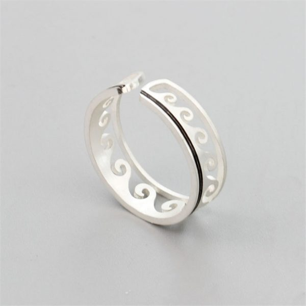 Wave-Ring-Stainless-Steel-Knuckle-Ocean-Wire-Wrap-Surf-Rings-For-Women-Beach-Tidal-Jewelry-Midi-4