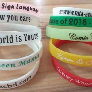 economical silicone wristbands  holiday unique client gift ideas