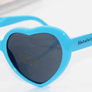 heart shaped sunglasses with your text printed on frame employees office gifts baby shower gifts