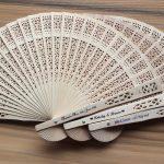 Customized sandalwood fan